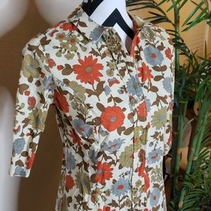 Vintage 70s floral & butterfly dress